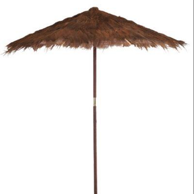 Parasol en feuille de cocotier
