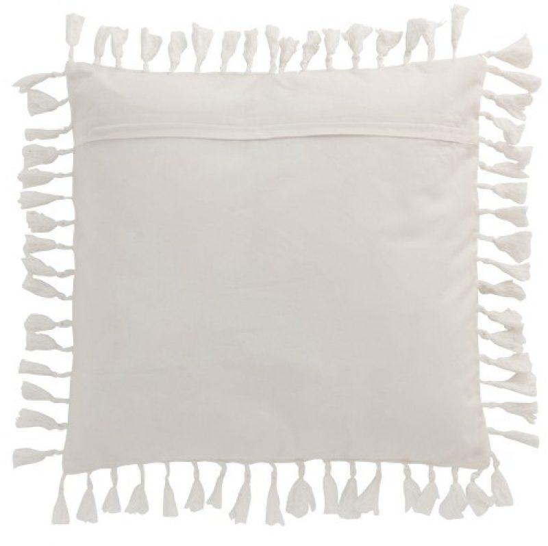 coussin oriental velours blanc