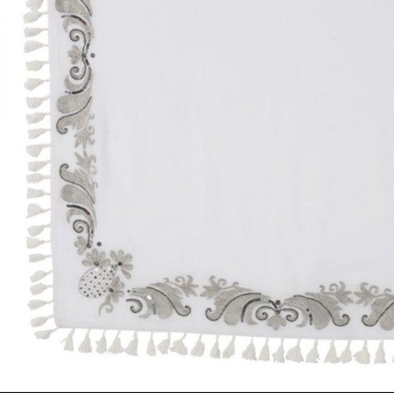 Plaid marocain blanc