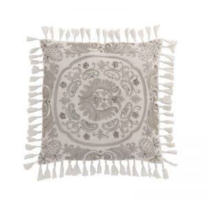 coussin oriental velours blanc