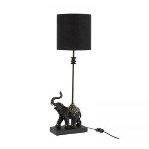 Lampe éléphant en résine