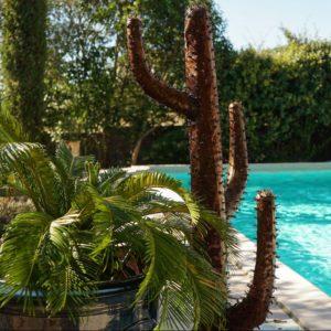 Cactus Candelabre métal recyclé