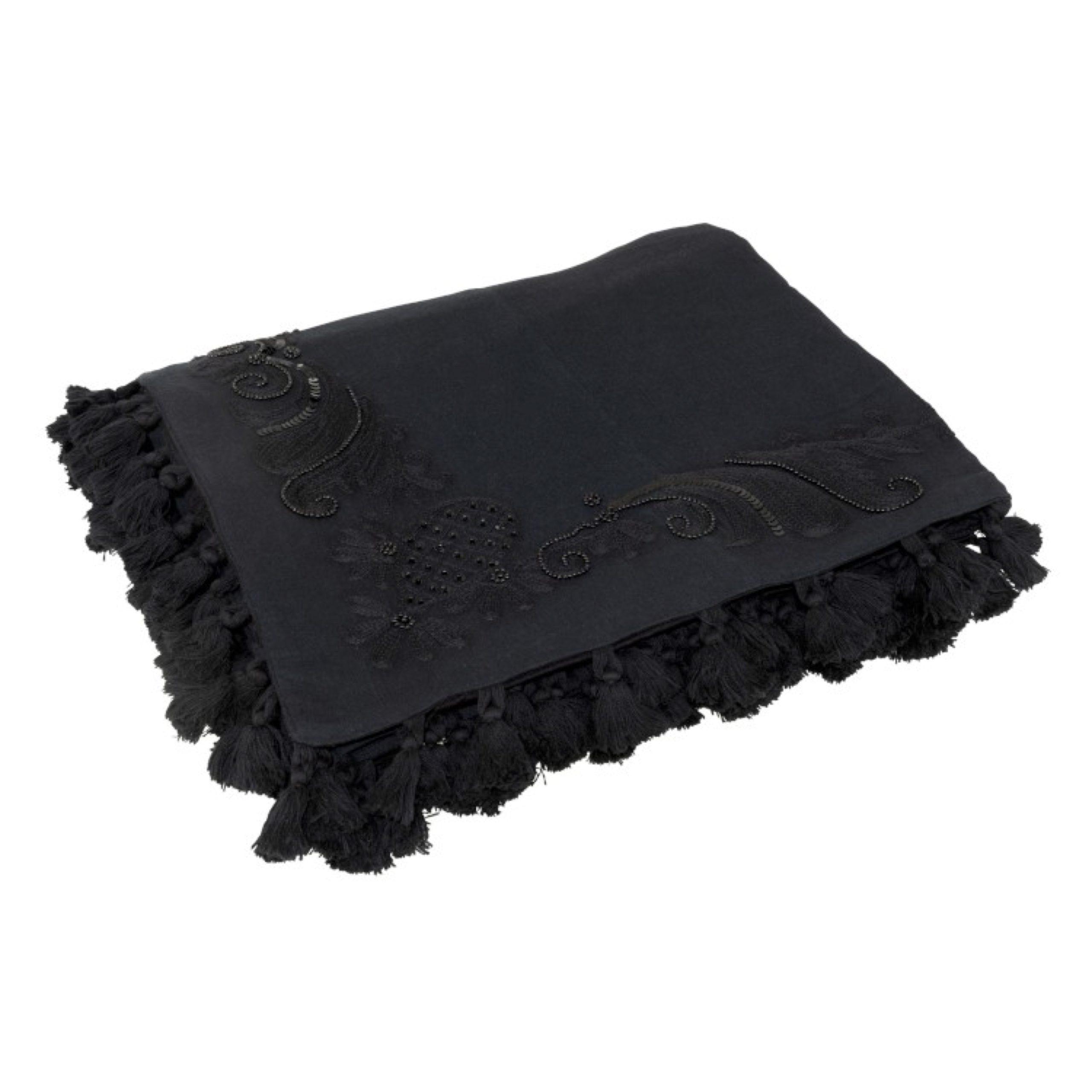 Plaid noir marocain