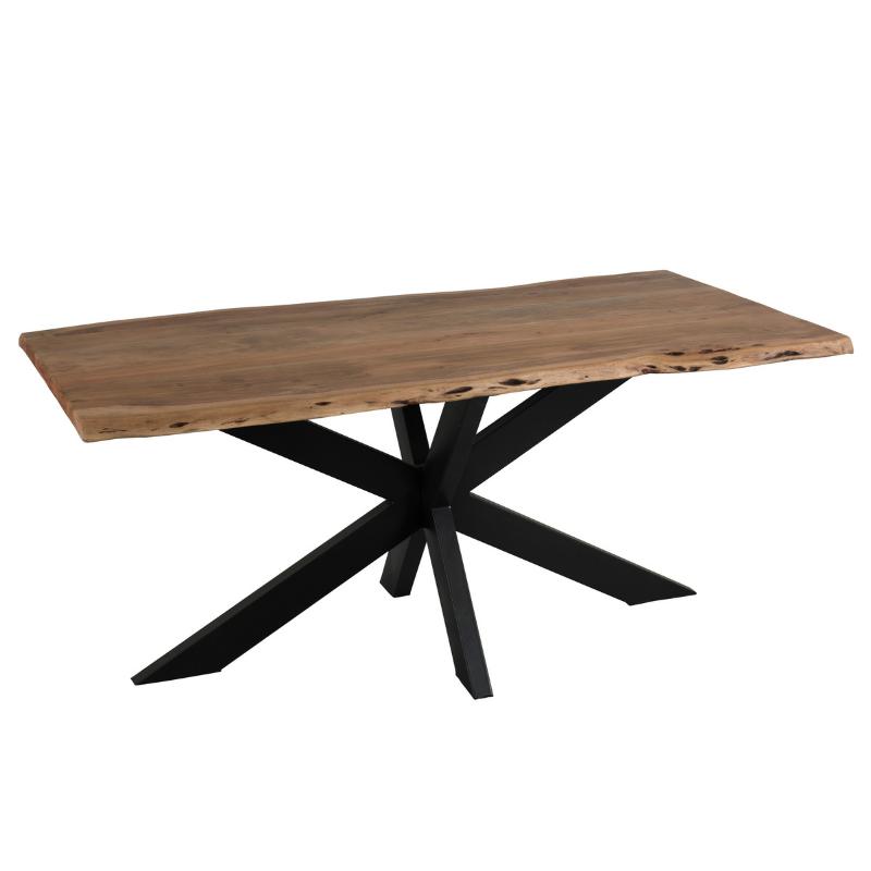 Table bois brut vue de haut